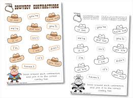 all worksheets contractions grammar worksheets printable