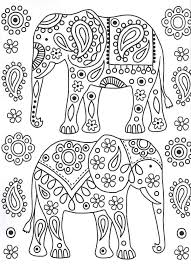 165 elephant coloring pages adults images