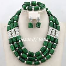 silver plated bead necklace images Latest design silver plated indian wedding african bridal jewelry jpg
