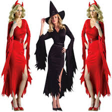 Red Witch Halloween Costume Halloween Costumes Black Witch Suppliers Halloween