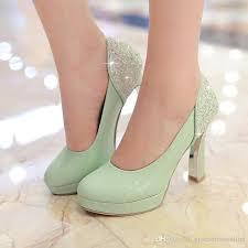 wedding shoes thick heel chunky heel wedding shoes 2016 mint green pumps high heels wedding
