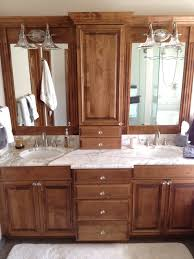 bathroom chaqrming wooden bathroom bertch cabinets in brown with