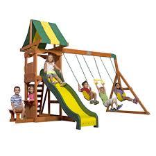 backyard discovery tucson cedar wooden swing set accessories