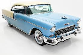 1955 chevrolet bel air blue ivory v8 auto ps pb american dream