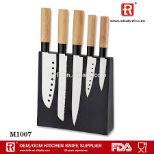 high quality 5 pcs wood handle japanese knife with magnetic knife