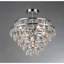 victory 5 light chrome crystal flush mount by warehouse of tiffany