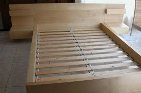 wooden slat bed frame king loccie better homes gardens ideas