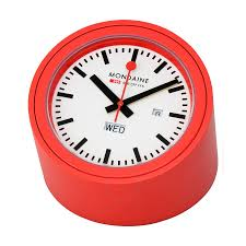 mondaine railways desk clock a667 tube 30sbb clock mondaine