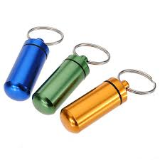 box keychain aluminum pill box bottle holder container keychain us 2 78