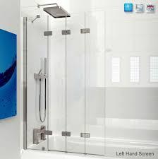 kudos inspire 4 panel compact bath screen uk bathrooms
