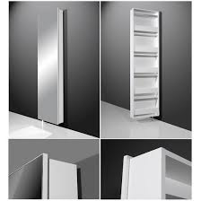 rotating storage cabinet with mirror igma mirrored rotating shoe storage cabinet in white finish mirror