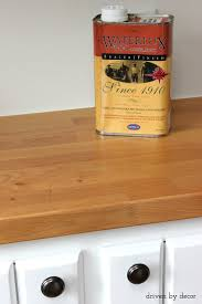 how to stain and seal unfinished cabinets sealing butcher block countertops waterlox vs mineral