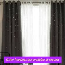 Standard Curtain Length South Africa by Grey Gray Twinkle Stars Kids Bedroom Grommet Window Curtain Fabric
