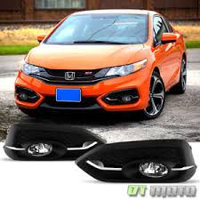for 2014 2015 honda civic coupe 2dr fog lights bumper lamps w