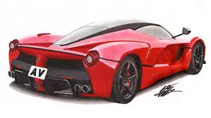 ferrari enzo sketch realistic car drawing ferrari laferrari time lapse youtube