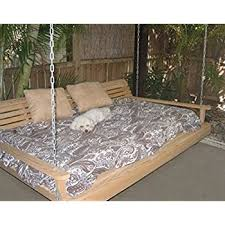 amazon com cypress porch swing bed 6 ft with heavy duty 10ft