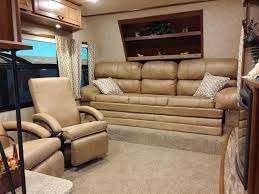 5th wheel with living room in front open range light 311flr front living room fifth wheel