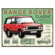 1970 land rover range rover classic metal sign import car signs retroplanet com