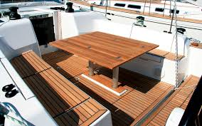 boat tables for cockpit teak boat tables the xp 50 offers stylish cockpit furniture