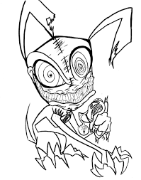 scary halloween printable coloring pages funycoloring