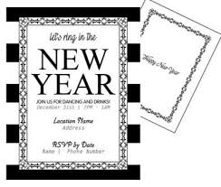new years tie custom new year s invitations