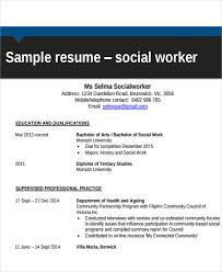 Social Work Resume Samples by 26 Free Work Resume Templates Free Word Pdf Documents Download