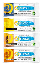 trueself foods low fodmap certified snack bars available now on