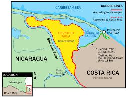 san jose costa rica on map file nicaragua costa rica san juan river border svg wikimedia