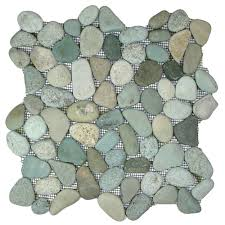sea green pebble tile fireplace surround u0026 hearth pebble tile shop