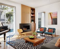 Black Leather Armchair Mid Century Living Room Furniture Acrylic Coffee Table Black