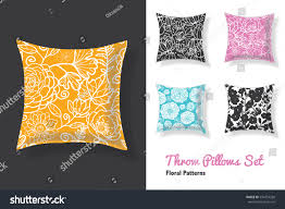 Unique Sofa Pillows by Set Throw Pillows Matching Unique Floral Stock Vector 534753268