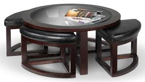 coffee table with four ottoman wedge stools emma coffee table w four ottomans espresso leon s