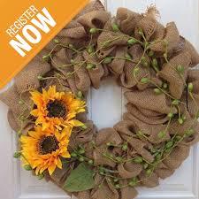 burlap sunflower wreath burlap wreath makkink s sunflower farm