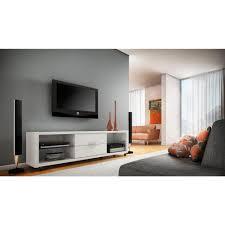 Living Room Entertainment Center Manhattan Comfort Belvedere White High Gloss Storage Entertainment