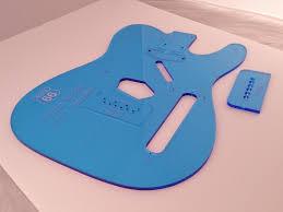 acrylic telecaster guitar body template templates