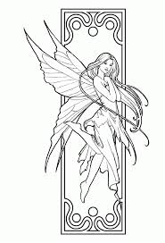 fairy outline kids coloring