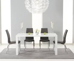 Dining Room Furniture Atlanta Buy The Atlanta 160cm White High Gloss Dining Table With Cavello
