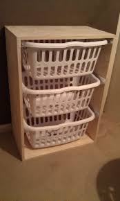 laundry hamper organizer organizer your laundry area by building this easy laundry basket