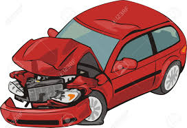 car with crashed front royalty free cliparts vectors and stock