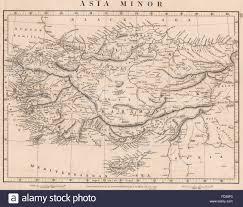 Asia Minor Map by Asia Minor Turkey Anatolia Karamania Anadolia Arrowsmith 1828