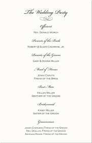sles of wedding programs for ceremony wedding reception program sles wedding ideas 2018