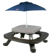 little tikes easy store picnic table little tikes easy store picnic table with umbrella energiadosamba