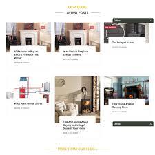 website design for fireplace retailer