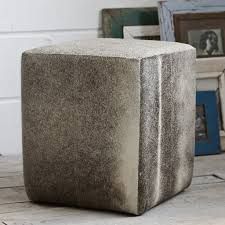 Hide Ottoman Cowhide Ottoman Shades Of Grey And Silver Product