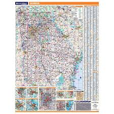 Georgia Counties Map Georgia Laminated State Wall Map