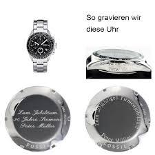 gravur sprüche uhr fossil chronograph ch2600 mit persönlicher gravur juwelier wieland