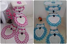 home a board for crochet patterns page 3 crochet owl bathroom set with free pattern