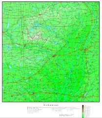 Arkansas Map Us Arkansas Elevation Map