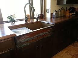 Rustic Kitchen Sink Copper Farmhouse Workstation Sink By Rachiele Rustic Kitchen