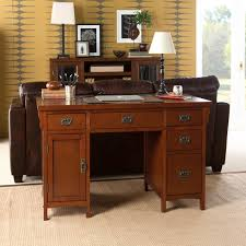 How To Build A Small Computer Desk by Amazon Com Sei Mission Brown Mahogany Computer Desk Kitchen U0026 Dining